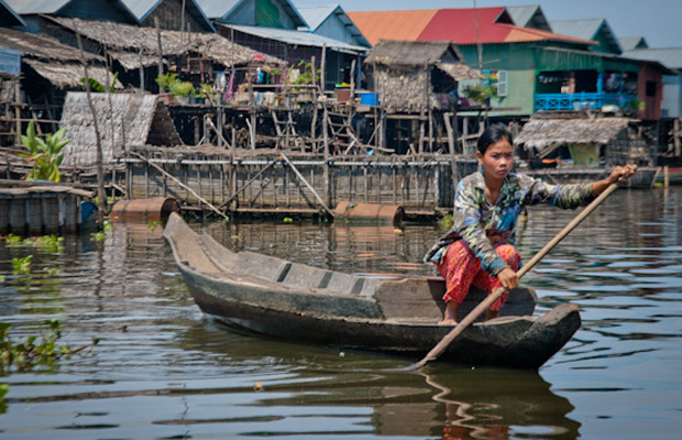 kompong pluk  Floating Village (flooding forest )